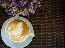Café caliente del latte Imagenes de archivo