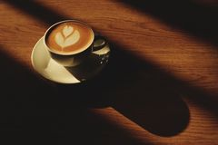 Café caliente del latte Foto de archivo