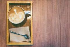 Café caliente del latte Imagen de archivo libre de regalías