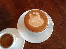 Café caliente Latte Imágenes de archivo libres de regalías