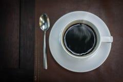 Café caliente por la mañana Fotografía de archivo libre de regalías