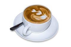 Café, cappuccino Avec le chemin de coupure Images libres de droits