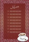 Café-cassez la carte Images libres de droits