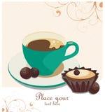 Café-cassez le fond Image libre de droits