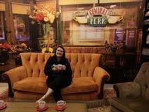 Café central Manchester das vantagens dos amigos imagem de stock