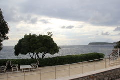 Café cerca del mar Imagen de archivo