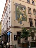 Café Chagall in Budapest. Café Chagall in Budapest, near the Jewish Museum Stock Photos