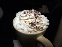 Café chaud écrémé Images libres de droits