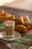 Café chaud dans le matin Photo stock