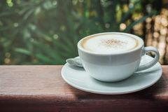 Café chaud de cappuccino Images stock
