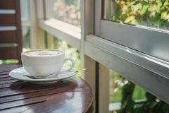 Café chaud de cappuccino Photo libre de droits
