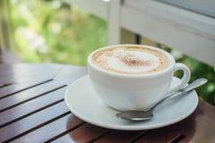 Café chaud de cappuccino Photographie stock
