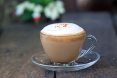 Café chaud de cappuccino Photo stock