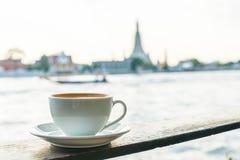 Café chaud de latte images libres de droits