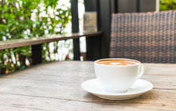Café chaud de latte image libre de droits