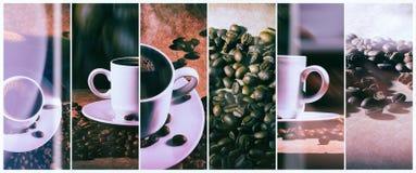 Café chaud Turc de café et tasse de café chaud avec des grains de café Images libres de droits
