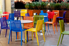 Café colorido do jardim Fotografia de Stock Royalty Free
