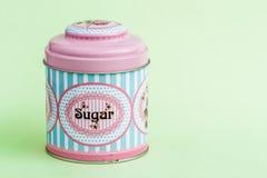 Café colorido, té, Sugar Tin Storage Containers imagenes de archivo
