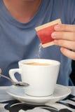 Café com açúcar Fotografia de Stock Royalty Free