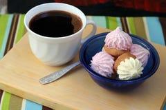 Café com biscoitos foto de stock