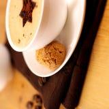 Café com Biscotti Imagens de Stock Royalty Free