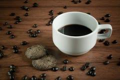 Café com bolinho Imagem de Stock Royalty Free