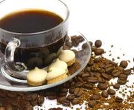 Café com bolinhos. Foto de Stock Royalty Free