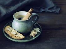 Café com canela Imagens de Stock Royalty Free