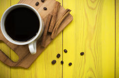 Café com canela Fotos de Stock