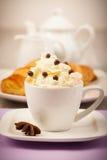 Café com chantiliy Foto de Stock Royalty Free