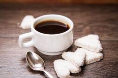 Café com cookies brancas Fotografia de Stock