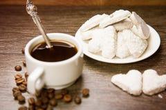 Café com cookies brancas Fotos de Stock