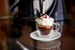 Café com creme e airelas Fotos de Stock