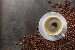 Café com feijões Foto de Stock