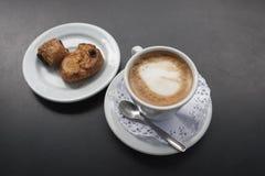 Café com leite Cortado Foto de Stock