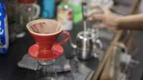 Café com o método v60 Foto de Stock Royalty Free