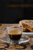 Café com um bolo, queque Foto de Stock
