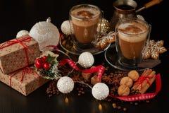 Café Composição do Natal e do ano novo fotos de stock