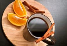 Café con cinamomo Fotos de archivo libres de regalías