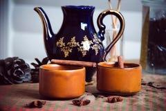 Café con cinamomo Fotografía de archivo libre de regalías