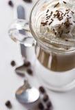 Café con crema azotada Fotos de archivo