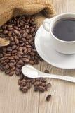 Café con crema de la leche imagen de archivo libre de regalías