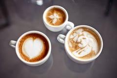 Café con diseño del arte Foto de archivo libre de regalías
