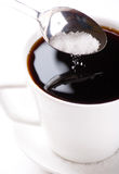 Café con el azúcar fotografía de archivo