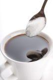 Café con el azúcar Fotografía de archivo libre de regalías