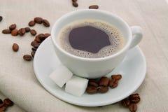 Café con el azúcar Imagen de archivo libre de regalías