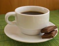 Café con el chocolate Imágenes de archivo libres de regalías