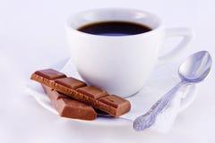 Café con el chocolate Fotos de archivo