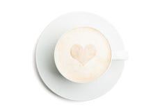 Café con el corazón Foto de archivo