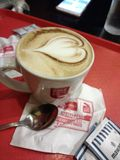 Café con el corazón Fotos de archivo libres de regalías